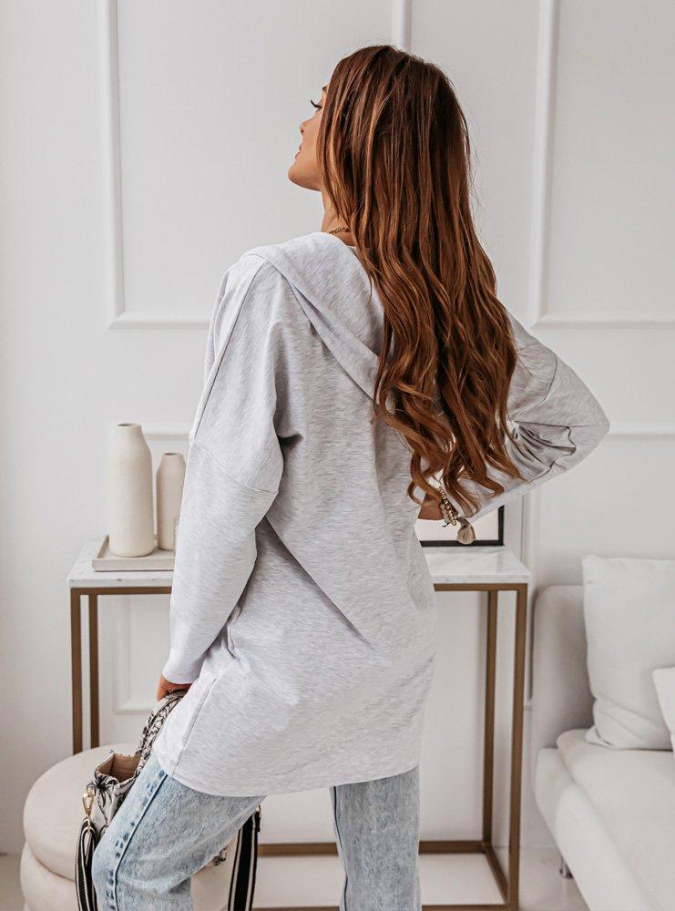 Bluza oversize z zamkiem Treeya -...