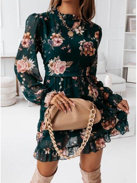 Sukienka kwiatowa na długi...