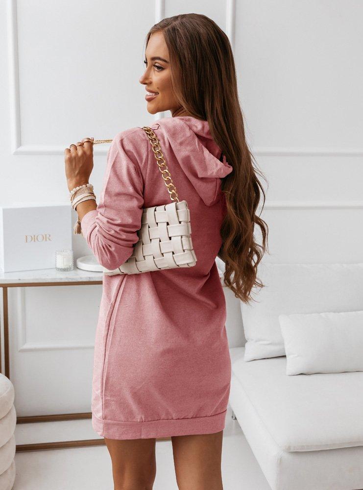 Różowa sportowa sukienka z modnym...