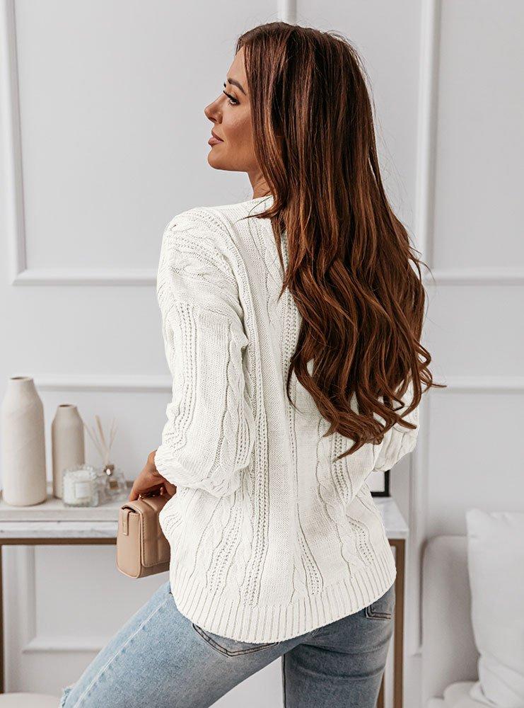 Sweter z ozdobnymi warkoczami Anilla...
