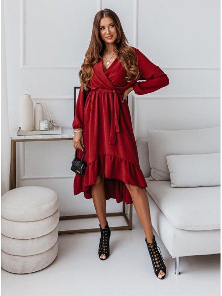 Bordowa sukienka...