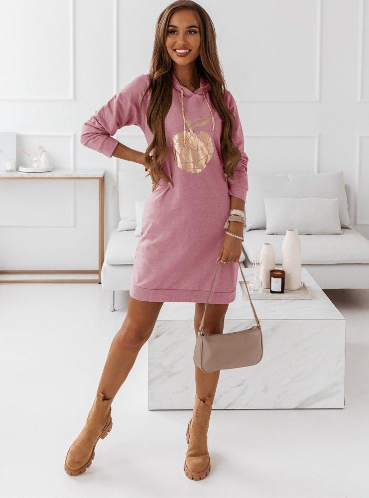 Różowa sukienka sportowa z nadrukiem...