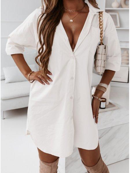 Biała sukienka koszulowa...