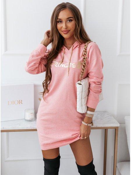 Różowa sportowa sukienka z...