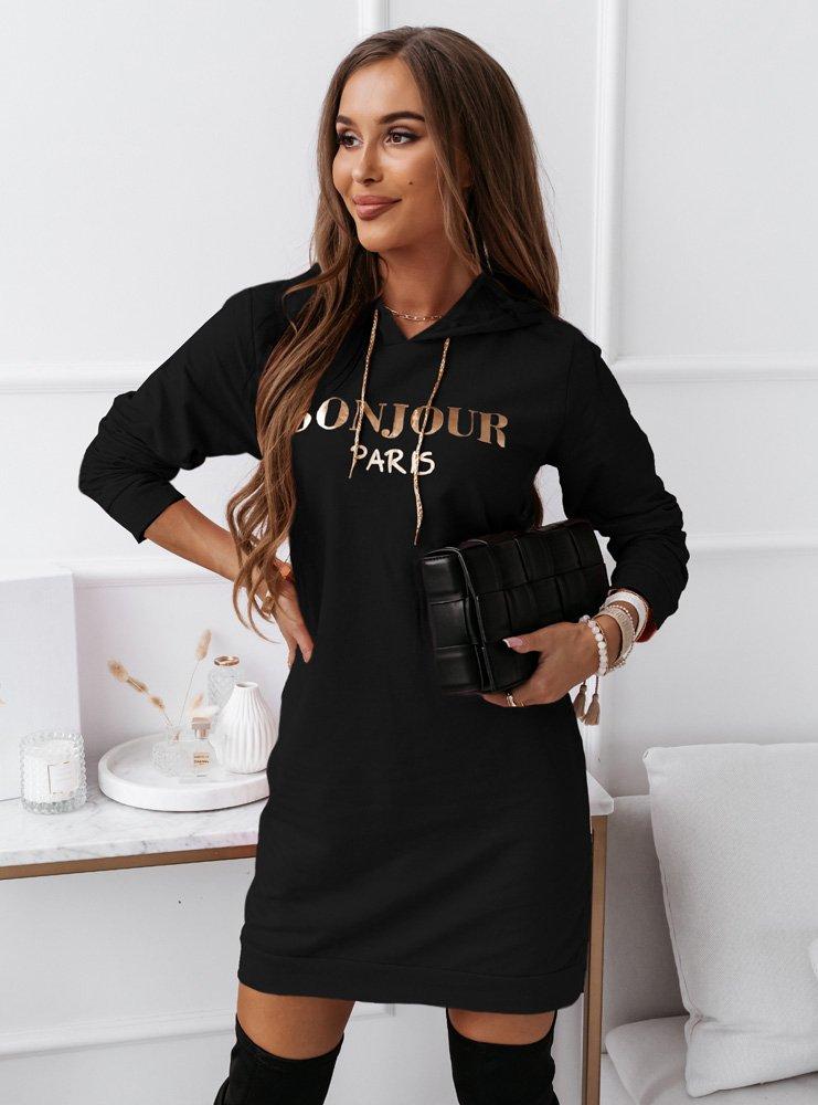 Czarna modna sportowa sukienka z...