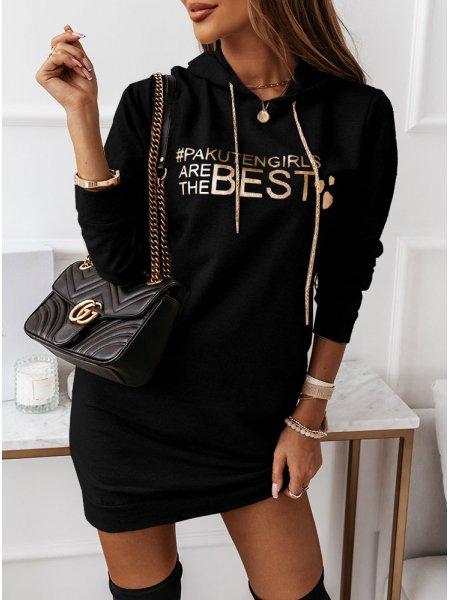 Czarna sukienka sportowa z...