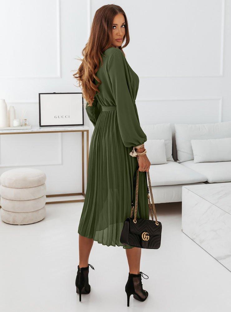 Plisowana sukienka Solia - khaki