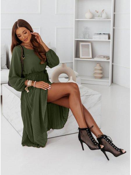 Plisowana sukienka Solia -...