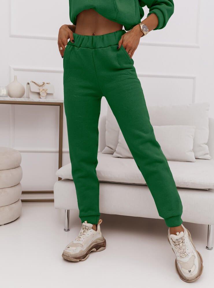Zielony komplet dresowy logowany Merete