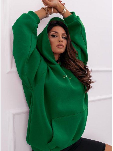 Zielona logowana bluza...