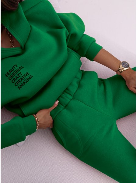 Zielony komplet dresowy z...