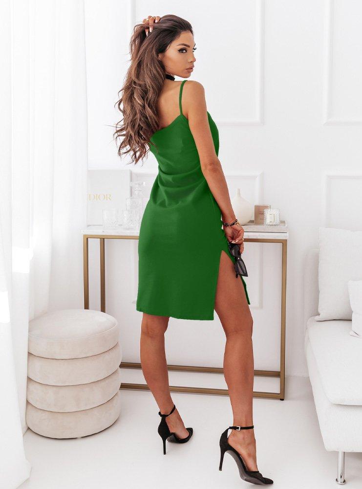 Zielona dopasowana sukienka na...