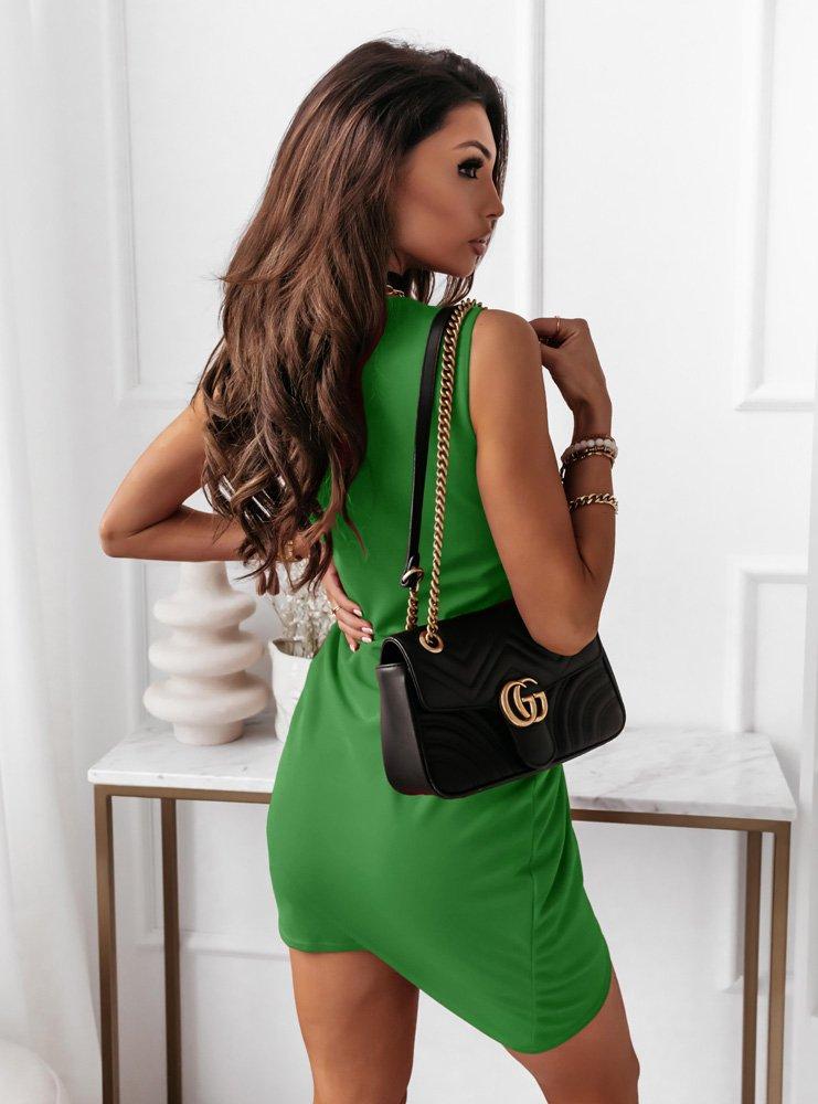 Zielona asymetryczna sukienka...