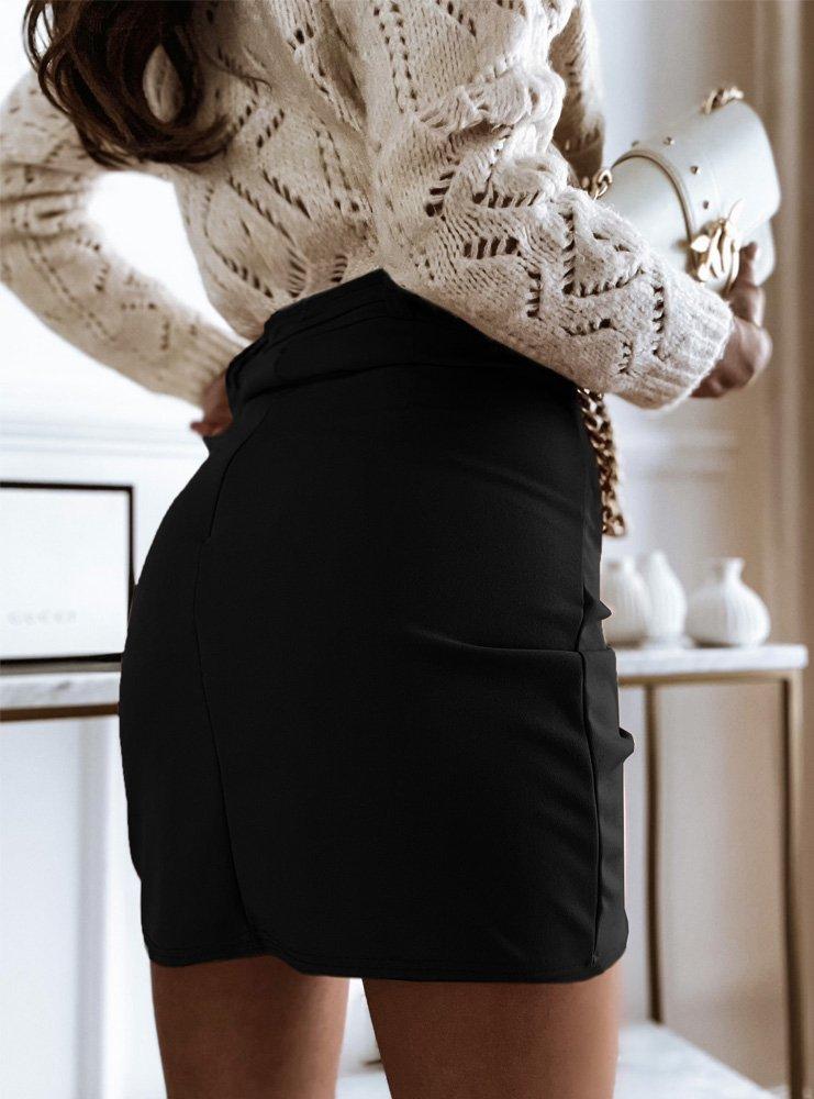 Czarna asymetryczna spódniczka Hasalia