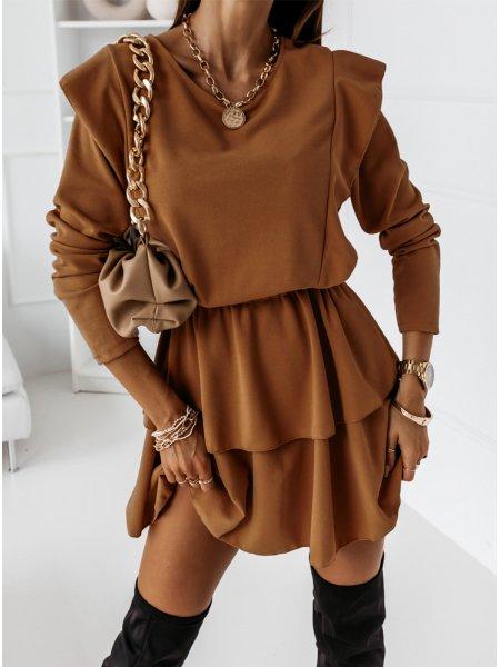 Karmelowa sukienka z...