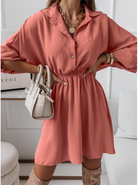 Pudrowa sukienka typu...