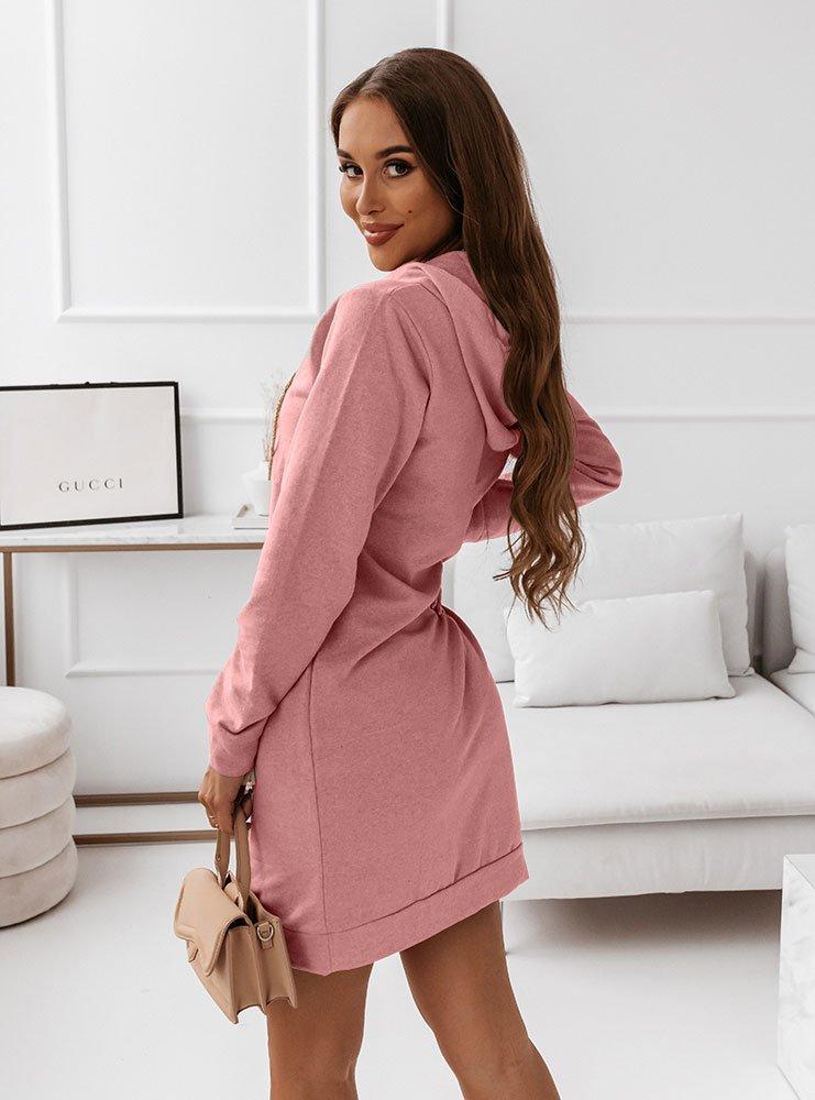 Różowa sukienka sportowa z modnym...