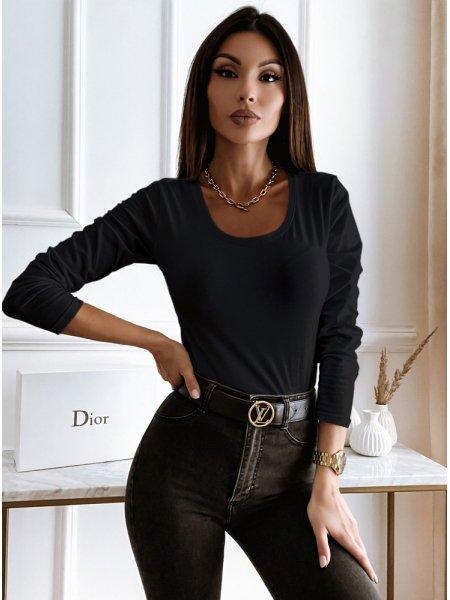 Czarna bluzka na długi...