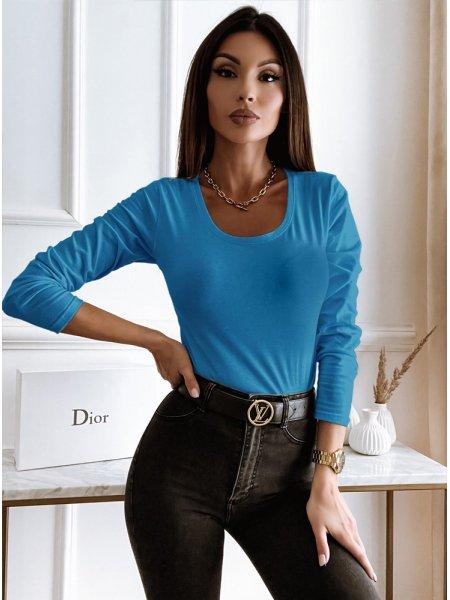 Niebieska bluzka na długi...