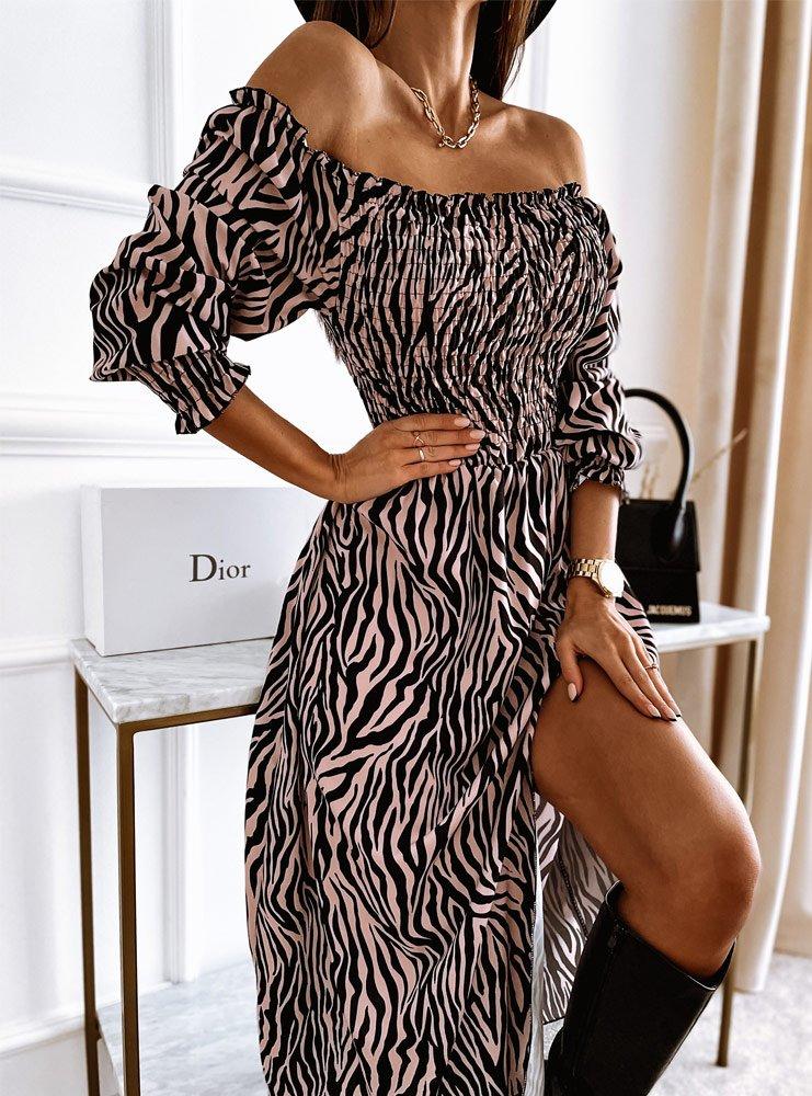 Sukienka hiszpanka z rozcięciem...
