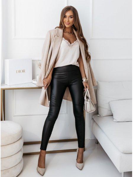 Czarne legginsy z imitacją...