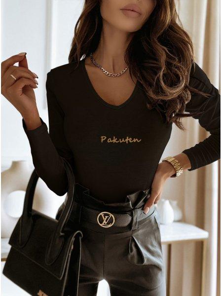 Czarna logowana bluzka na...