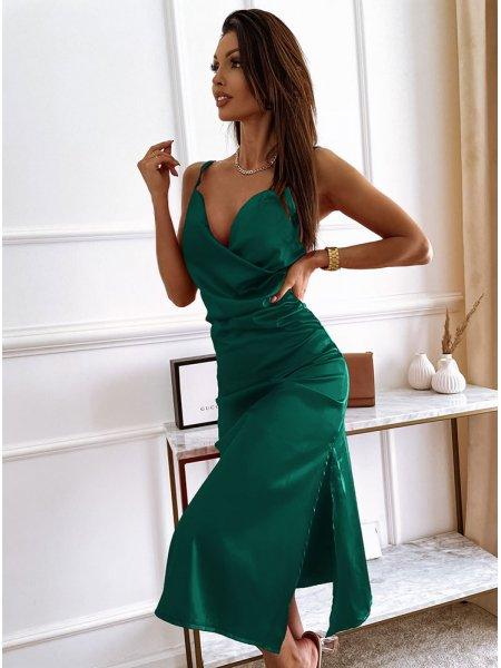 Satynowa sukienka z...