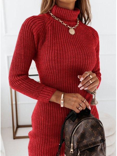 Malinowa sweterkowa...
