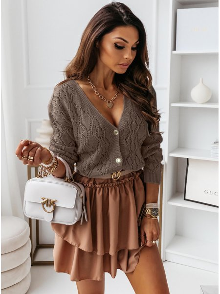 Ażurkowy sweterek na guziki...