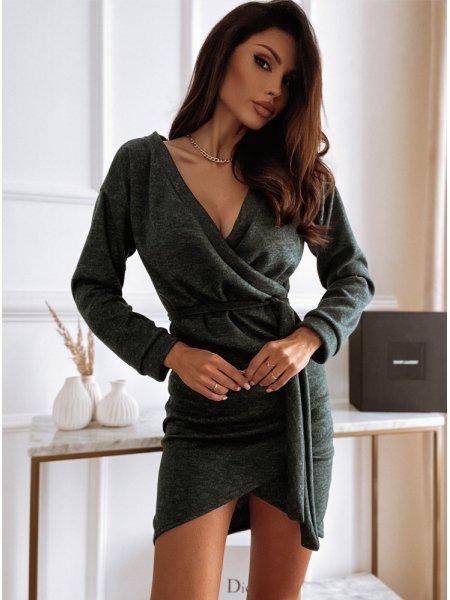 Sweterkowa sukienka z...