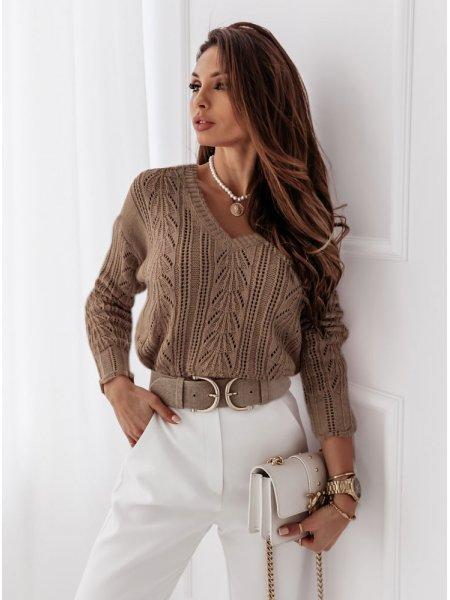 Ażurkowy sweter Layal -...