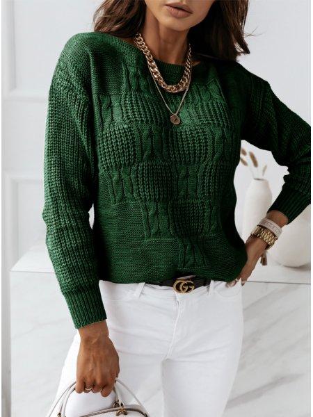 Sweter z ozdobnym splotem...