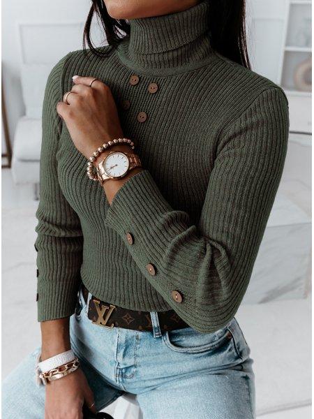 Prążkowany sweterek z...
