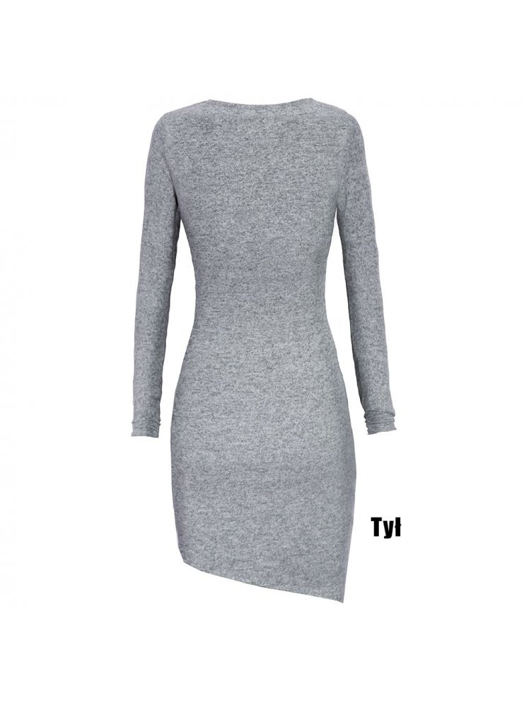 ee81e7c3fd Sp asymetryczna sukienka sweterkowa - cena