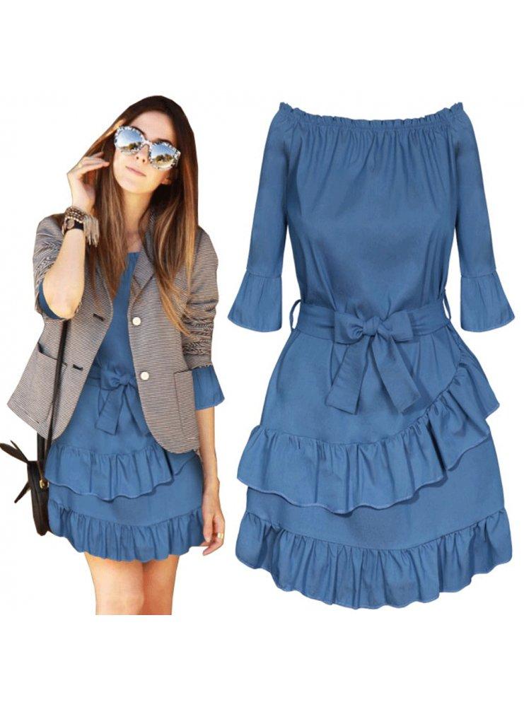 369a7738e Sp sukienka z falbankami i wiązaniem - cena, opinie | sklep ...