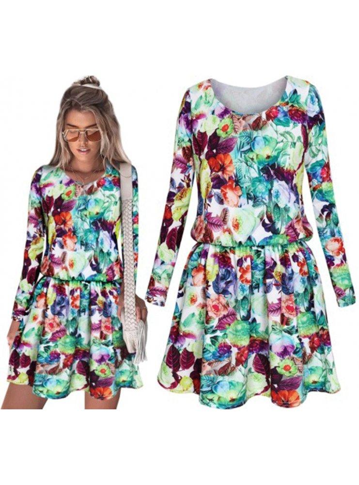 81e0be527b Sp sukienka w kwiaty folk boho - cena