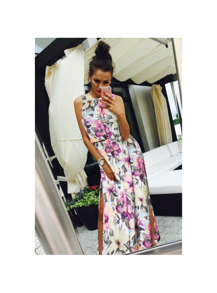 256c5929 Długa sukienka w kwiaty ella - cena, opinie | sklep internetowy Pakuten