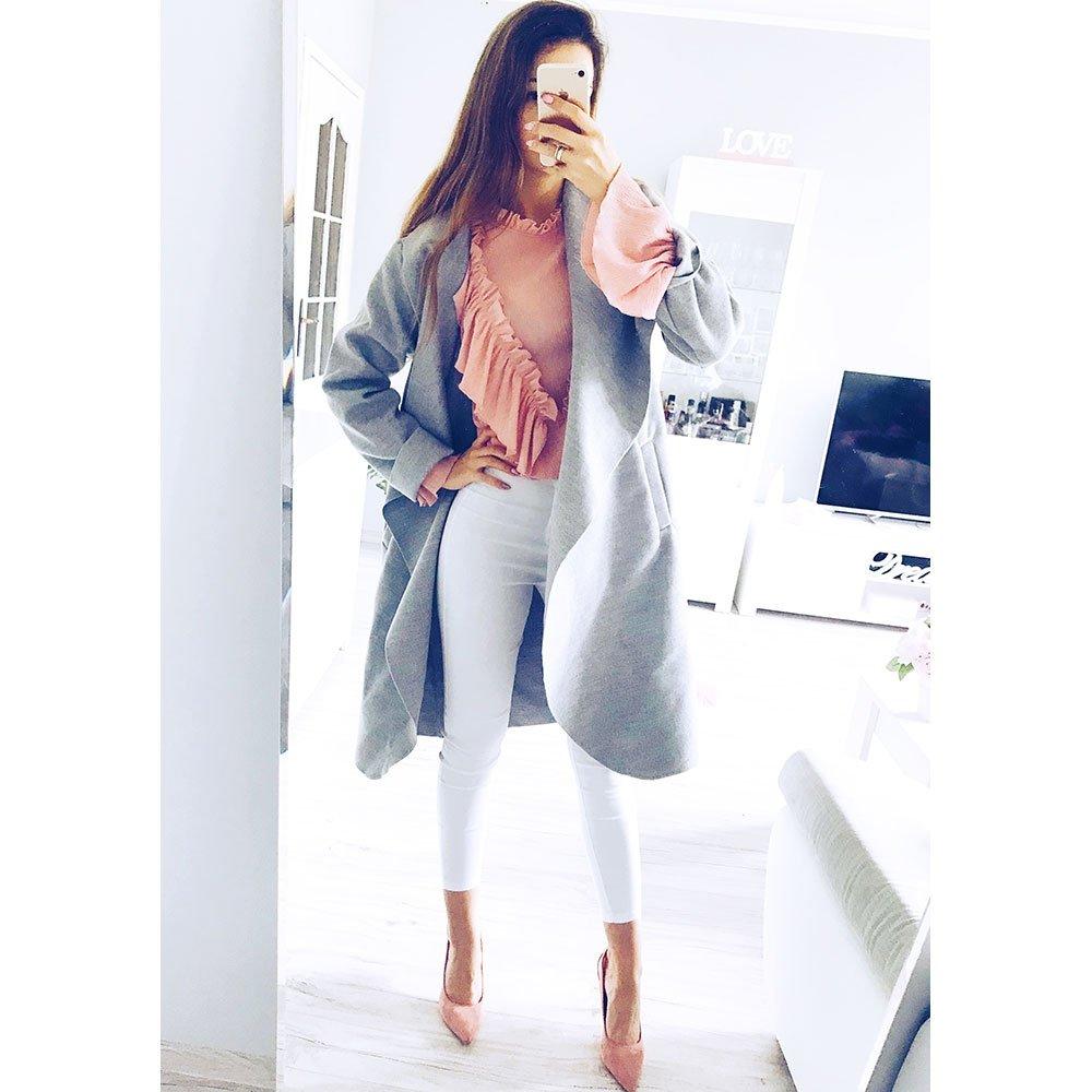 Flauszowy długi płaszcz sava cena, opinie | sklep