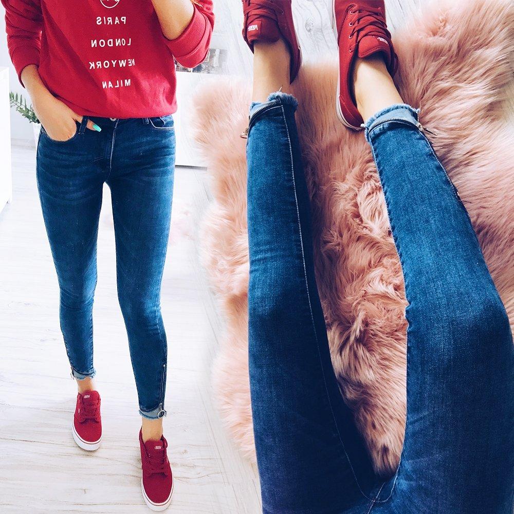 a8d7d302 Jeansy z zamkami bruna - cena, opinie | sklep internetowy Pakuten