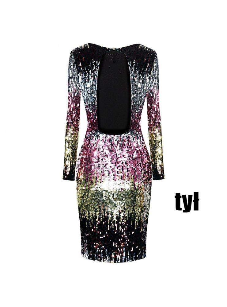 3cf9847a56 Kolorowa cekinowa sukienka ashley - cena