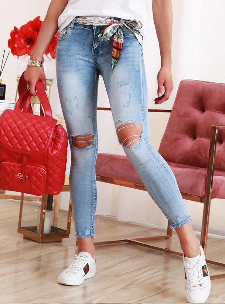 6f3682eb Spodnie jeansowe z dziurami selenia - cena, opinie | sklep ...