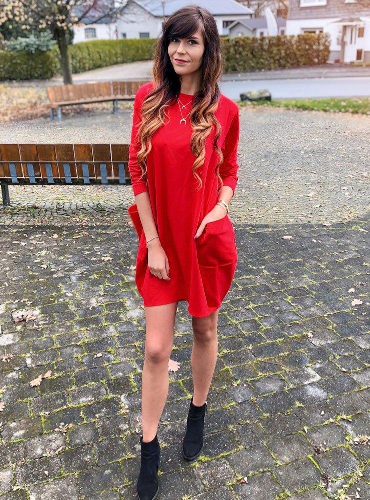 b6d35d895c Sukienka oversize z kieszeniami denice - cena