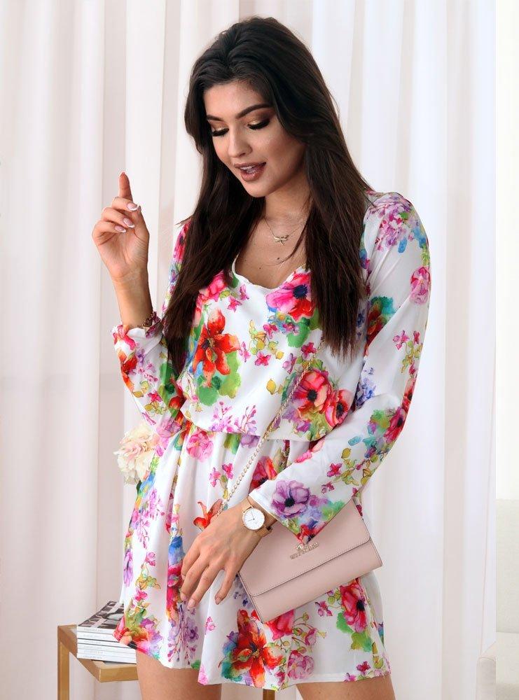 2de69b8be0f2bc Biała sukienka w kwiaty ilva - cena, opinie | sklep internetowy Pakuten