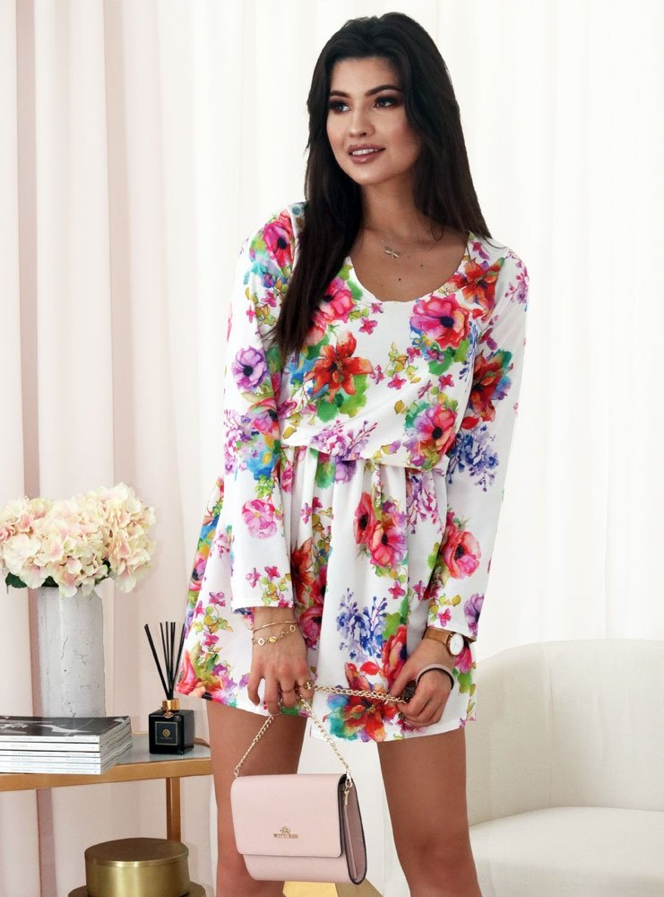 46a701dce4 Biała sukienka w kwiaty ilva - cena