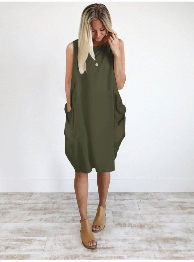 1f9ee767 Sukienka oversize bez rękawów clementina - cena, opinie | sklep ...