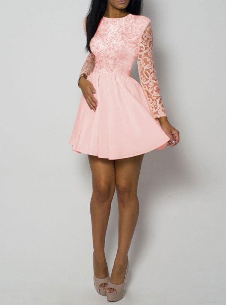 1f1ea3706 Rozkloszowana sukienka z koronką - cena, opinie | sklep internetowy ...