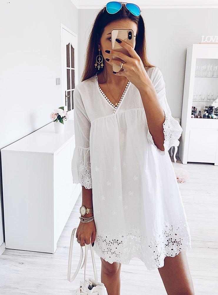 5992cf439 Luźna sukienka z koronką sheyla - cena, opinie | sklep internetowy ...