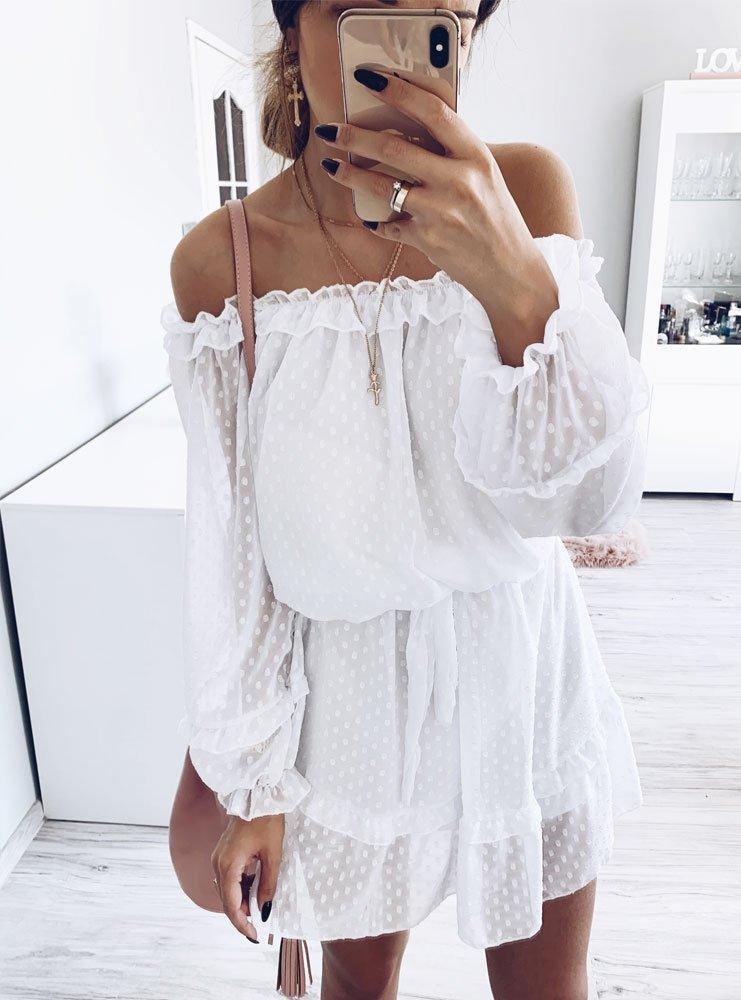 8d4f9ca40f Biała sukienka koronkowa valezka - cena