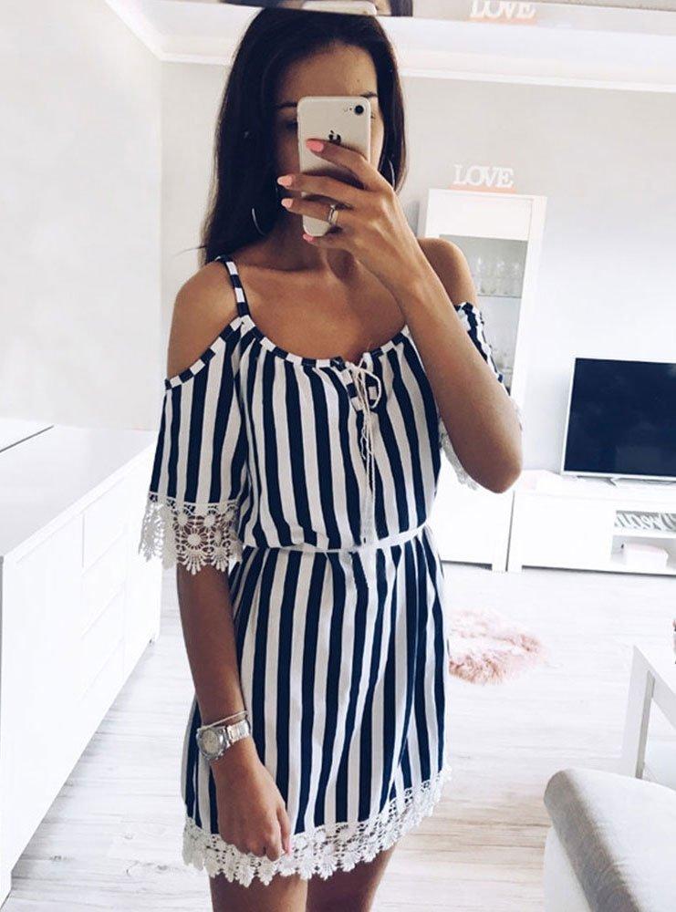 2baf71a986 Moda w paski  sukienki z Instagrama