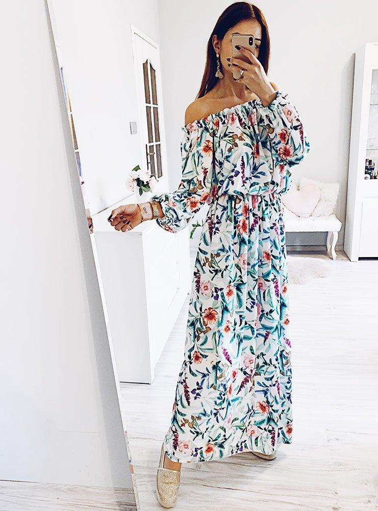 c1be54aabf Sukienka wzorzysta długa julyn - cena
